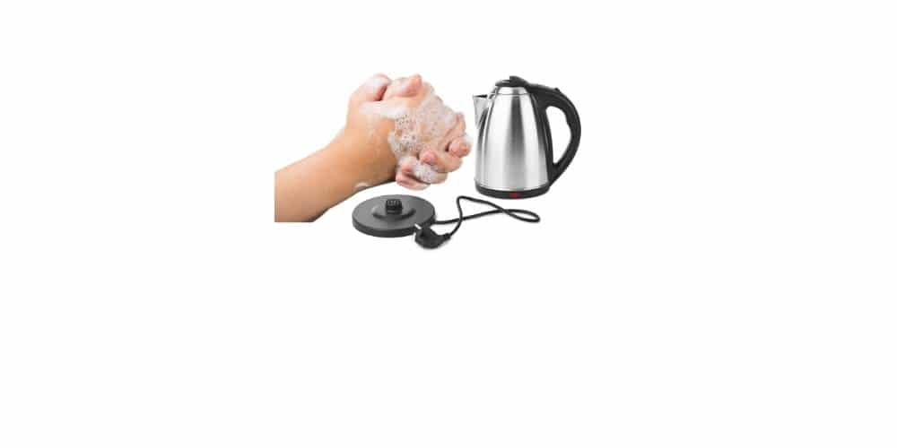 clean the inside of an electric kettle